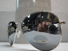 Men or Women OLD SCHOOL VINTAGE RETRO COP Style SUN GLASSES Chrome Mirror SHADES