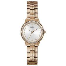 Guess Chelsea Quartz Crystal Silver Dial Ladies Watch W1209L3