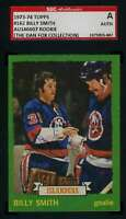 Billy Smith Rookie 1973 74 Topps Vintage SGC Coa Autograph Authentic Hand Signed