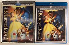 DISNEY BEAUTY AND THE BEAST 3D BLU RAY DVD 5 DISC SET + LENTICULAR SLIPCOVER OOP