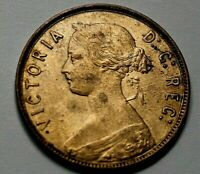 New Foundland One Cent  1865 Queen Victoria.  A50-216