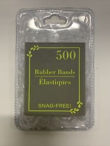 500 Small Black Rubber Bands for Hair Crafts Hobbies Office Fast Shipping..