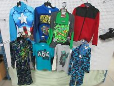 9 Boys 10-12 Large Lg Clothing Basic Edition Long Shirts Pj Outfit Hoodie Lots