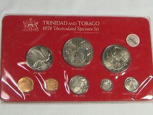 Scarce 1974 Trinidad & Tobago 8 Coin Uncirculated Specimen Set 3258 Minted.  #21