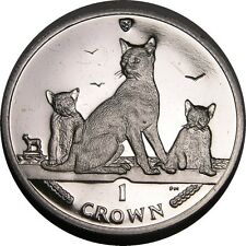 elf IOM Isle of Man 1 Crown 2016 Havana Brown Cat Kittens