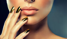 Gold Mirror Chrome Effect Glass Nail Foils Nails Nail Art Wraps