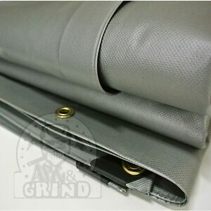 GRAY PREMIUM 22 MIL VINYL TARP EXTREME HEAVY DUTY PVC TARP (CHOOSE YOUR SIZE)