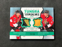 2013-14 UD ARTIFACTS ALFREDSSON/GREENING TUNDRA TANDEMS DUAL PATCH #ed 26/36