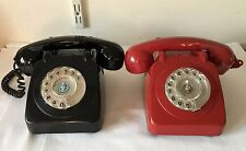 2 GPO / PO Rotary Dial Bell Telephones for Conversion RED 706F & Earlier Black