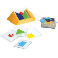 Colour Code Logic Puzzle - Children's 1 Player Brainteaser Spatial Shape Game