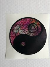 Yin Yang Decal Sticker Flower Of Life 3inch 3x3 AA Symbol Alcoholics Anonymous