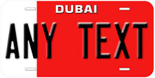 Dubai Flag Any Text Personalized Novelty Car License Plate