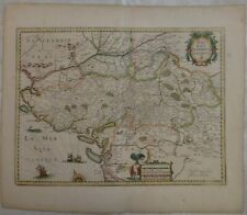 Jodocus Hondius Hand Colored Map. Region of Poitou France, c.1600's. 22 ½� x 19""
