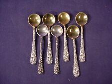 Set 7 Stieff Rose Gold-Washed Salt Spoons