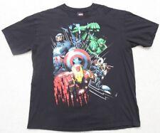 Marvel Tee Shirt Black Mad Engine Short Sleeve Mens T-Shirt Cotton XL Hulk Thor