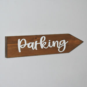 Engraved Wooden Wedding Arrow Sign Personalised Directional