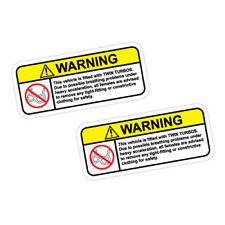 2X WARNING TWIN TURBOS TAKE ALL CLOTHES OFF Sticker Decal Car  #1181
