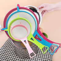 Strainer Different Sizes Multicolor Plastic Fine Mesh Sieve Kitchen Supplies CO