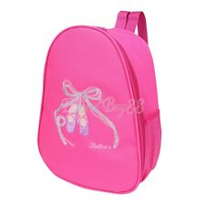 Pink Girls Backpack Dance Bag Shoulder Bag Tote Ballet Shoes Tap Quilted Dress
