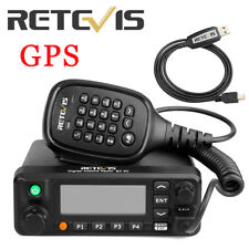 Retevis RT90 DMR GPS Dual Band Standby Display Digital  Mobile Car Radio & Cable