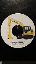 KOMATSU PC130-7 EXCAVATOR SERVICE MANUAL ON CD *FREE POSTAGE*