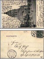 1903 AK von MAINZ nach Fechenheim gelaufen; Motiv Christuskirche Christus Kirche