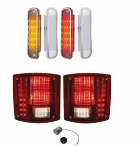 United Pacific Sequential LED Tail Lamp Marker Lamp Set 1973-80 Chevy GMC Truck