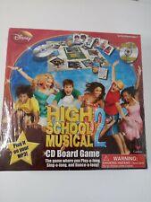 High School Musical 2 CD Board Disney Channel #6814 Cardinal Industries, New
