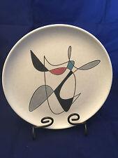 "Metlox Contempora Poppytrail 10"" dinner plate vtg Atomic abstract MCM"