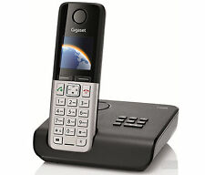 Gigaset C300 C300A Cordless Home DECT Phone with Answer Machine Black & Silver