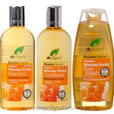 Dr Organic Manuka Honey Shampoo, Conditioner & Body Wash Pack