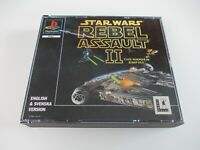 STAR WARS REBEL ASSAULT II 2  PLAYSTATION  PS1 GAME (TESTED AND WORKING) PAL