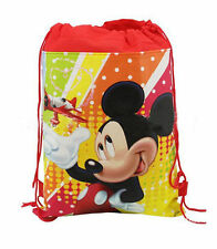 Mickey Mouse Minnie Drawstring Backpack Girl's School Sling Tote Gym Bag D26#