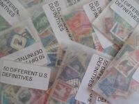 HENRYS' STAMPS - 20 PACKETS OF 50 EA. 1000 U.S. SMALL FORMAT - USED/OFF PAPER -