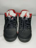 Nike Air Jordan 5 Retro V Low Alternate  Size 6.5Y Black/Gym Red 314338-001