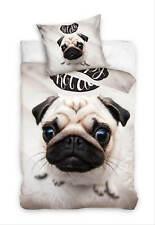 Hunde Mops Bettwäsche-Set Kinderbettwäsche Bettwaren Bettzeug Bettbezug 135x200