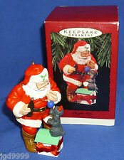 Hallmark Coke Ornament Playful Pals 1993 Coca Cola Santa Plays with Poodle Dog