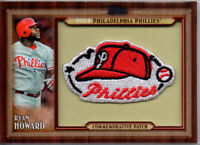 (2011)* RYAN HOWARD* Topps Commemorative Throwback Patch* 1954 Phillies* RARE!