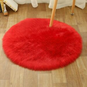 Soft Carpet Artificial Wool Warm Hairy Carpets Seat Fur Area Rugs Bedroom Mat