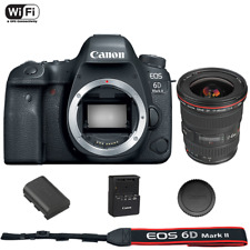 Canon EOS 6D Mark II DSLR Camera Body with EF 17-40mm f/4L USM Lens
