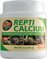 Zoo Med Repti Calcium With D3 Reptile Ultrafine Calcium Carbonate Supplement 3oz