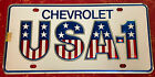Vintage Chevy USA-1 Bowtie Small Hole Dealer License Plate Topper