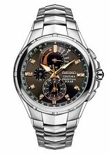 *BRAND NEW* Seiko Men's Chronograph Coutura Diamond Accent Stainles Watch SSC561