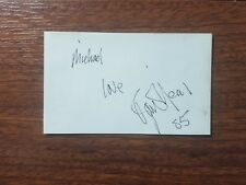 """Peyton Place"" Actor Boxer Ryan O'Neal Hand Signed Index Card Todd Mueller COA"