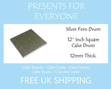 "1 x 12"" Inch Square Wedding Birthday Cake Drum / Board 12mm"
