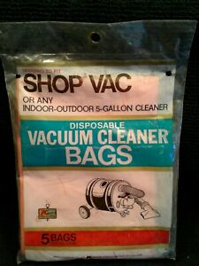VINTAGE  Shop Vac Bags Unopened  For Earlist Design