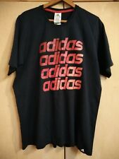 ADIDAS - NAVY T SHIRT WITH  RED LOGO - SIZE XL