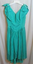 NWT Turquoise Prom Bridal Formal Dress Taffeta Hi Low Hem USA MFP $110 Size 10