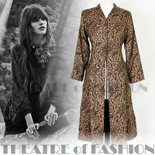 COAT JACKET INDIAN ADINI 70s VINTAGE BOHO HIPPY-LUXE TAPESTRY MEDIEVAL BEAUTIFUL