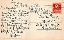 G. Pratt - Mrs. Walden, Westfield, Castle Rd. Newport, Ilse Of White1929 CB61